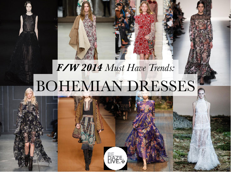 Fall Winter 2014 Trends: Bohemian Dresses
