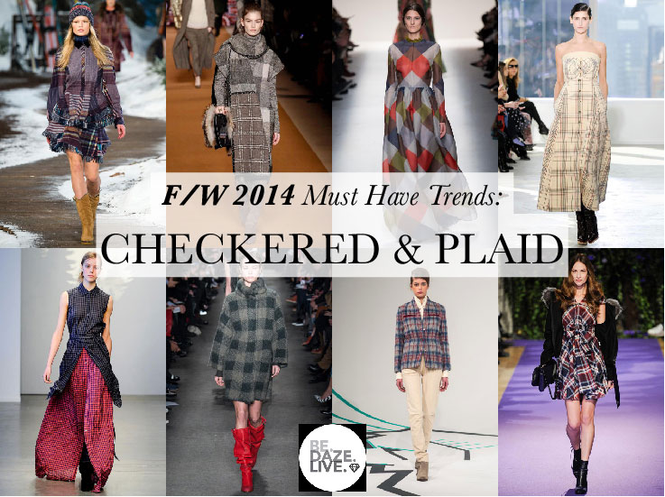 Fall Winter 2014 Trends: Checkered and Plaid