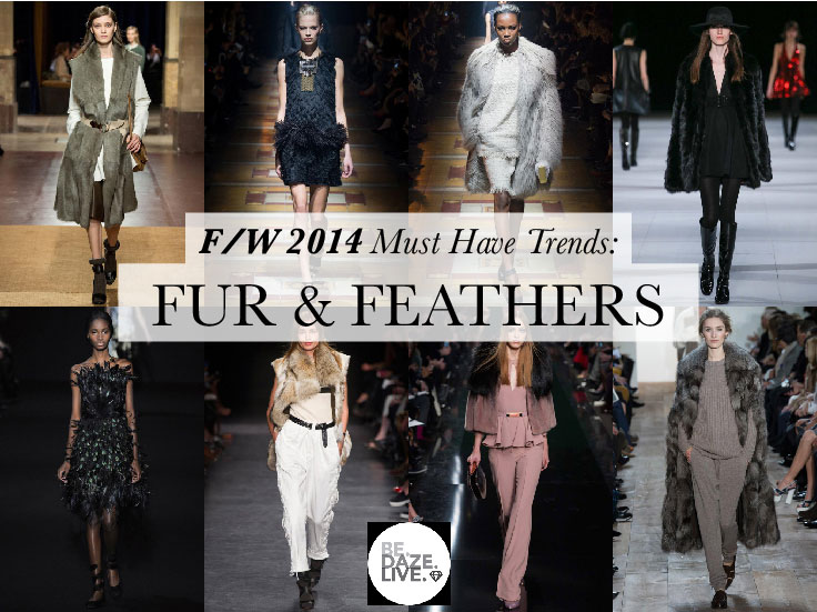 Fall Winter 2014 Trends: Fur and Feathers