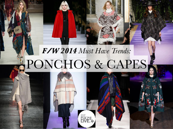 Fall Winter 2014 Trends: Ponchos and Capes