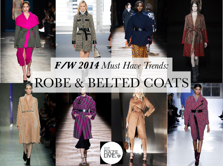 Fall Winter 2014 Trends: Robe and Belted Coats