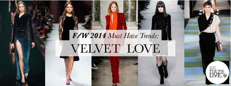 Fall Winter 2014 Trends: Velvet Love