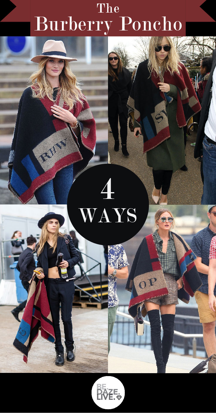The Personalized Burberry Poncho_4 Ways