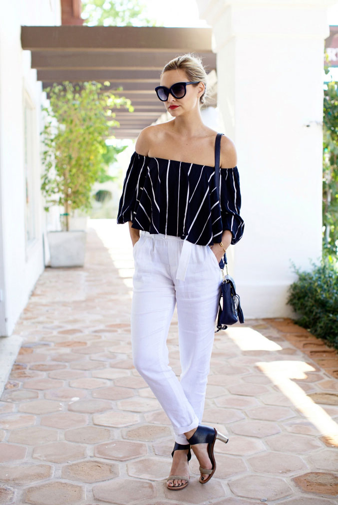 9 Ultra-Cool Ways to Wear an Off-Shoulder Top