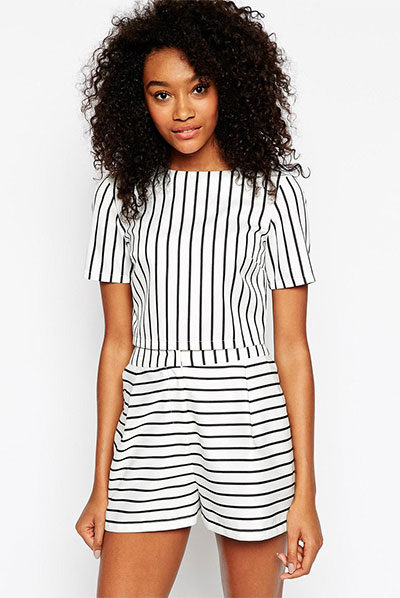 13_ASOS Stripe Structured Co-ord Tee($45 usd)