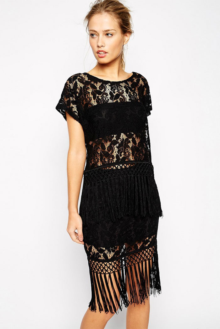 21_Supertrash Top in Lace and Velvet with Fringing co-ord ($97 usd)