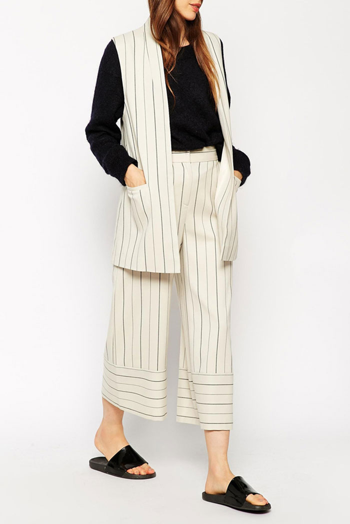 23_ASOS Sleeveless Blazer in Pinstripe co-ord ($87 usd)