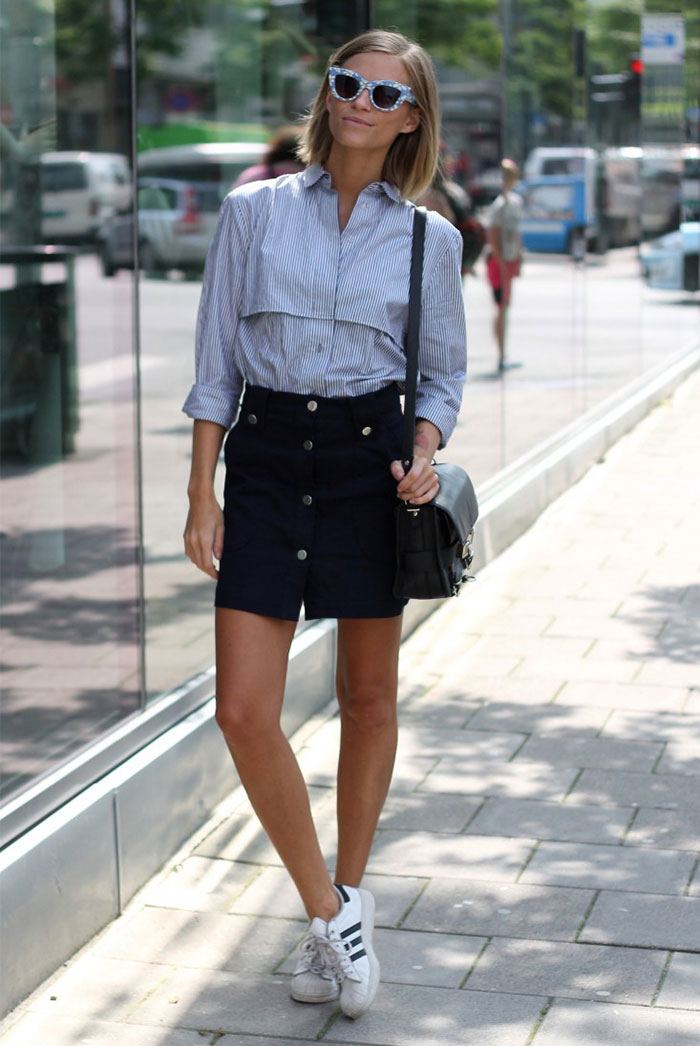 10 Super-Chic Ways to Wear A-Line Skirts | Be Daze Live