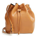 Sole Society 'Nevin' Faux Leather Drawstring Bucket Bag, nude bucket bag, light brown bucket bag, tan bucket bag, light brown bag, tan bag, nude bag