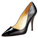 kate spade licorice pump, black heels, black pointy toe heels, black patent heels, black patent pointy toe heels