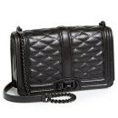 Rebecca Minkoff 'Love' Bag, black bag, black shoulder bag, black quilted bag, black quilted shoulder bag