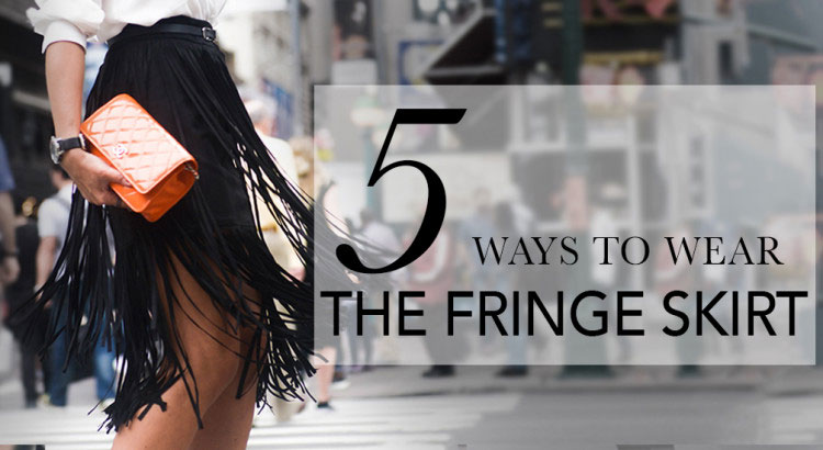 5 ways to wear a fringe skirt - street style