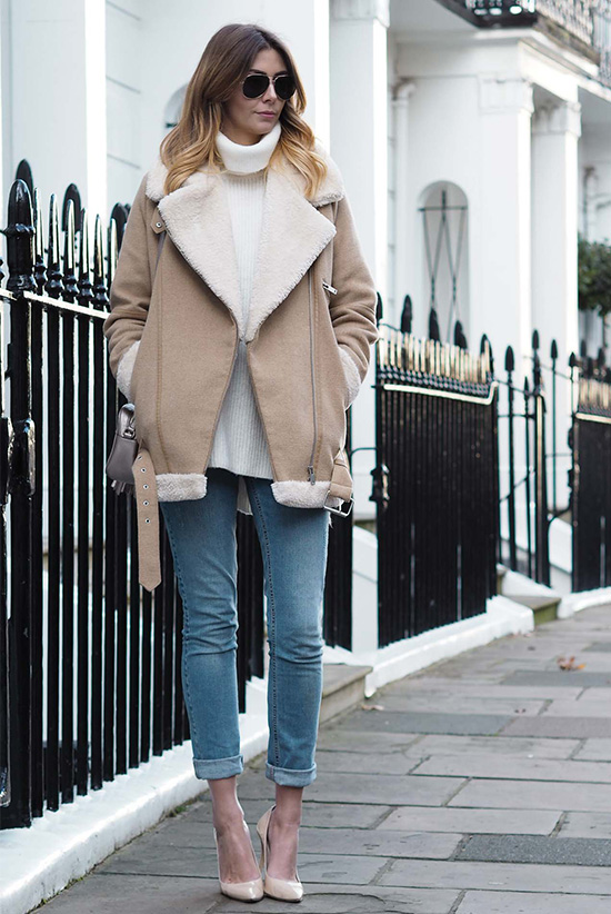 5 Cozy Shearling Looks To Copy This Winter