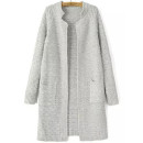 Shein Cardigan, grey cardigan, grey long cardigan, grey boxy cardigan, grey pocket cardigan