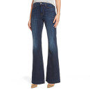 7 For All Mankind 'Tailorless Ginger' Flare Jeans, petite flare jeans, petite mid wash flare jeans