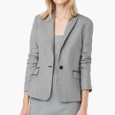 Mango Houndstooth Blazer, grey blazer, grey one button blazer