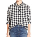 Madewell Buffalo Check Shirt, black check shirt, black plaid shirt, black gingham shirt