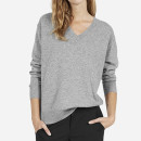 Everlane Cashmere V-Neck Sweater - grey v-neck sweater, grey cashmere sweater, grey cashmere v-neck sweater, grey oversized sweater, grey oversized v-neck sweater