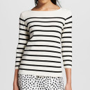 Who What Wear for Target Bateau Sweater, stripe sweater, stripe crewneck sweater
