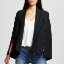 Who What Wear for Target Cape Blazer ($39.99 USD), black cape blazer, black cape, black blazer