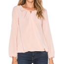 Aamanda Uprichard Peasant Top, pale pink blouse, blush blouse