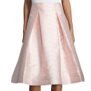 Alexis Paola Midi Skirt, pale pink pleated midi skirt, blush pleated midi skirt