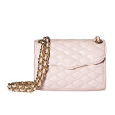 Rebecca Minkoff Quilted Mini Affair Bag, pale pink quilted shoulder bag, blush quilted shoulder bag