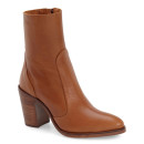 Topshop 'Magnificent' Bootie, brown bootie, brown ankle boot, brown chelsea boot, brown heeled bootie, brown heeled ankle boot, brown heeled chelsea boot