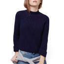Topshop Mock Neck Sweater, navy sweater, navy mock neck sweater, navy turtleneck sweater