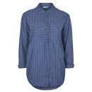Topshop Stripe Shirt, blue striped shirt, navy striped shirt, denim striped shirt, chambray striped shirt