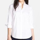 Halogen Crisp Shirt (Regular & Petite), white shirt, white button down shirt, white petite shirt, white petite button down shirt