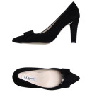 L.K. Bennett Pump, black pumps, black heels, black suede pumps, black suede heels, blakc sued bow pumps, black suede bow heels