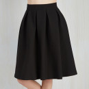 Modcloth Imperative Narrative Skirt, black pleated skirt