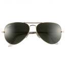 Ray-Ban Original Aviator Sunglasses, brown sunglasses, golden sunglasses, aviator sunglasses, metallic sunglasses