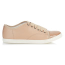 Lanvin Capped-toe Sneakers, pink sneakers, pale pink sneakers, blush sneakers