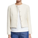 Co Textured Jacket, white collarless jacket, white textured jacket