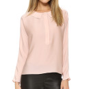 Milly Dolman Blouse, pale pink blouse, blush blouse