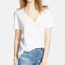 Madewell Whisper V-Neck Tee, white t-shirt, white v-neck t-shirt, white short sleeve t-shirt