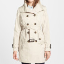London Fog Trench Coat, beige trench coat, khaki trench coat, belted trench coat