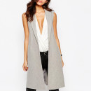 New Look Belted Sleeveless Coat, grey sleeveless coat, grey sleeveless blazer, grey long vest