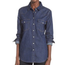 Vigoss 'Ryder' Denim Shirt, dark denim shirt, long denim shirt