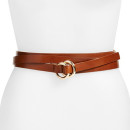 B-Low the Belt Triple Wrap Belt, brown belt, brown waist belt, brown wrap belt, brown long belt, brown skinny belt