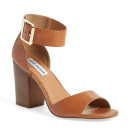Steve Madden 'Estoria' Sandal, brown heeled sandal, brown sandal, brown ankle strap sandal, brown ankle strap heeled sandal, brown block heel sandal