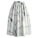 Chicwish Marble Midi Skirt, printed pleated midi skirt, printed midi skirt, black and white midi skirt