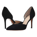 Marc Fisher LTD Tammy Pump, black suede pumps, black suede heels, black suede stilettos, black suede d'orsay pumps