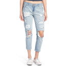 Hart Denim 'Libbey' Crop Jeans, distressed crop jeans, distressed ankle jeans, light wash crop jeans, light wash ankle jeans