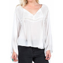 Volcom 'Peaceazy' Top, white long sleeve top, white blouse, white lace top, white lace blouse, white peasant top, white peasant blouse, white bohemian top, white bohemian blouse