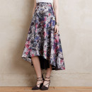 Kerrera Midi Skirt, floral midi skirt, floral high-low skirt, floral full skirt