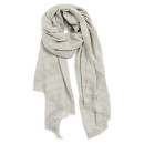 Echo Pleated Scarf, light grey scarf