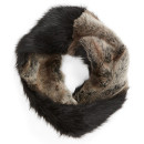 Parkhurst 'Twist' Faux Fur Scarf, brown fur scarf, brown fur infinity scarf